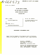 California. Court of Appeal (2nd Appellate District). Records and Briefs: B068573, Other
