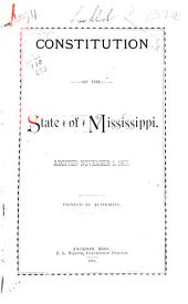 Constitution of the State of Mississippi, Adopted November 1, 1890