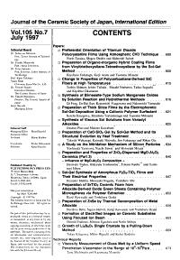 Journal of the Ceramic Society of Japan PDF