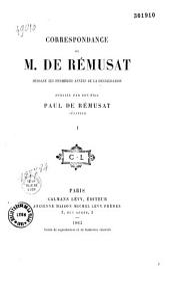 Correspondance de Charles de Rémusat pendant les premières années de la restauration