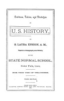 Outlines  Tables  and Sketches in U S  History PDF