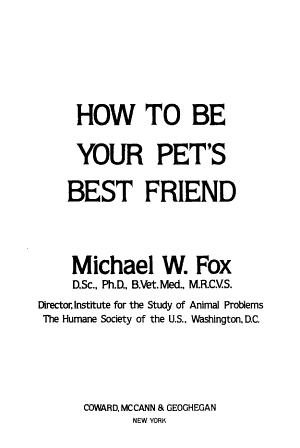 How to be Your Pet s Best Friend