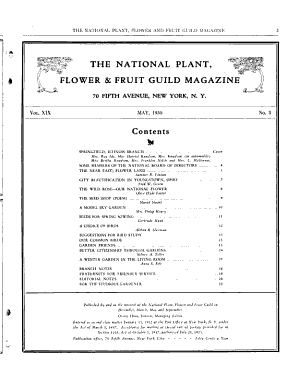 National Plant, Flower and Fruit Guild Magazine
