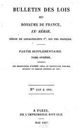 Bulletin des lois de la République Française: Volume11