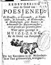 Redevoering over de dood van Poesjenel [...]. Uit het Kattejaans in de Nederduytsche taal getrouwelyk overgezet