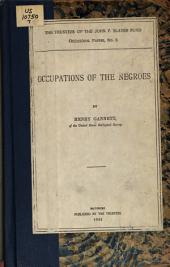 Occupations of the Negroes