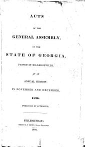 Acts Passed by the General Assembly of Georgia