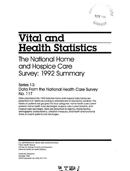 The National Home and Hospice Care Survey PDF