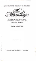 The Misanthrope  Comedy in Five Acts PDF