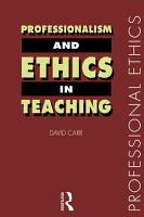 Professionalism and Ethics in Teaching PDF