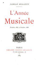 L'année musicale et dramatique, oct. 1886[-1893].