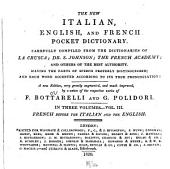 The New Italian, English, and French Pocket Dictionary: French before the Italian and English