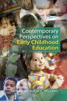 Contemporary Perspectives on Early Childhood Education PDF
