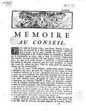 Mémoire au Conseil [Factum Rouville] [signé Prost, Prost de Royer]