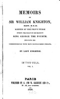Memoirs of William Knighton  Keeper of the privy purse during the reign of King George IV  PDF