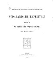 Die Mehri- und Soqot̥ri-sprache: Band 1