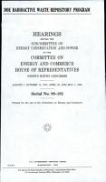 DOE Radioactive Waste Repository Program PDF