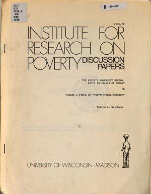 The Private Nonprofit Sector PDF