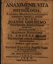 Anaximenis vita atque physiologia