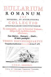 Complectens Constitutiones Clementis XII. ab Anno V. ad X.: 14