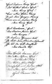 Zum 16. Februar 1824: Gedichtanfang: Festlich geschmückt sind des Landes Altäre