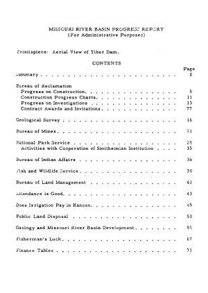 Missouri River Basin Progress Report PDF