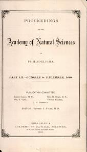 Proceedings of The Academy of Natural Sciences (Part III -- Oct.-Dec., 1880)