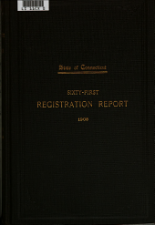 Registration Report of Births, Marriages, Divorces and Deaths: Volume 61