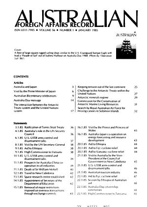 Australian Foreign Affairs Record