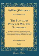The Plays and Poems of William Shakspeare  Vol  1 PDF