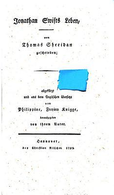 Jonathan Swifts Leben PDF