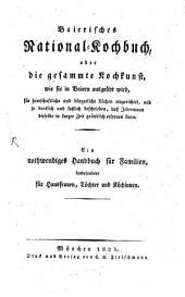 Baierisches National-Kochbuch