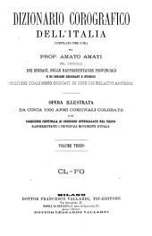 Dizionario corografico dell' Italia: Volume 3