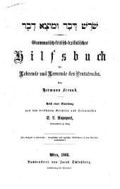 Shoresh davar u-motsa davar: Grammatisch-kritisch-lexikalisches Hilfsbuch für Lehrende und Lernende des Pentateuchs