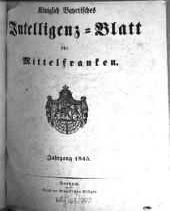 Königlich Bayerisches Intelligenzblatt für Mittelfranken: 1845