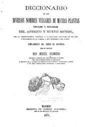 Diccionario de los diversos nombres vulgares de muchas plantas usuales o notables del antiguo y nuevo mundo