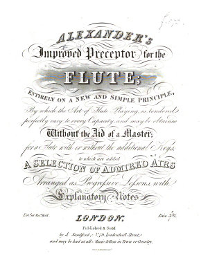 Alexander s Improved Preceptor for the Flute     to which are added a selection of admiral airs  etc PDF