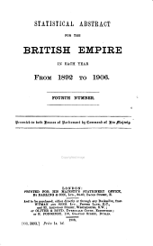 Statistical Abstract for the British Empire ...: Issues 4-6