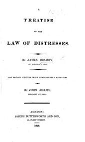 A Treatise on the Law of Distresses