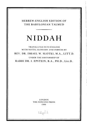 Talmud Bavli  Seder Tohoroth PDF