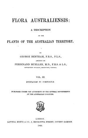 Flora australiensis: Myrtaceæ to Composita