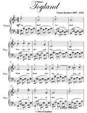 Toyland Easy Piano Sheet Music With Alberti Style Bass