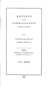 Parliamentary Papers: Volume 28