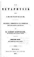 Die Metaphysik des Aristoteles PDF