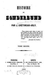 Histoire du Sonderbund: Volume2