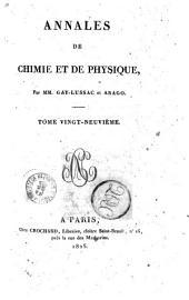 Annales de chimie et de physique: Volume29