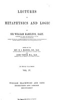 Lectures on Metaphysics and Logic PDF