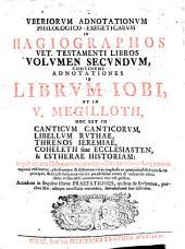 Uberiorum adnotationum philologico- exegeticarum in hagiographos V. T. libros volumina 1-3: Volume 2
