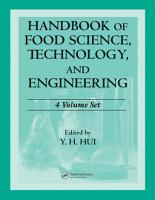 Handbook of Food Science  Technology  and Engineering   4 Volume Set PDF