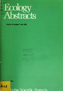 Ecology Abstracts